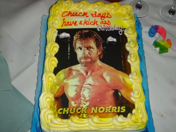 bottlecaps chuck norris can hear the shrieking terror in your soul, Birthday card