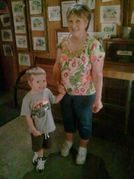 Matthew and Grandma at Clark's