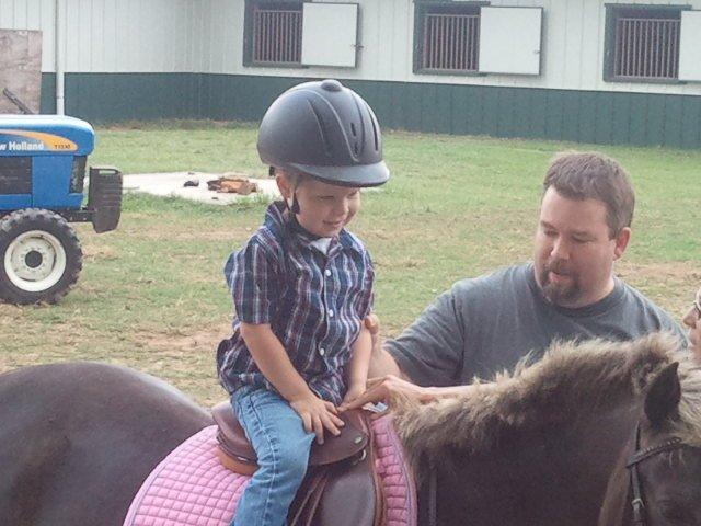 Matthew riding Abba 1