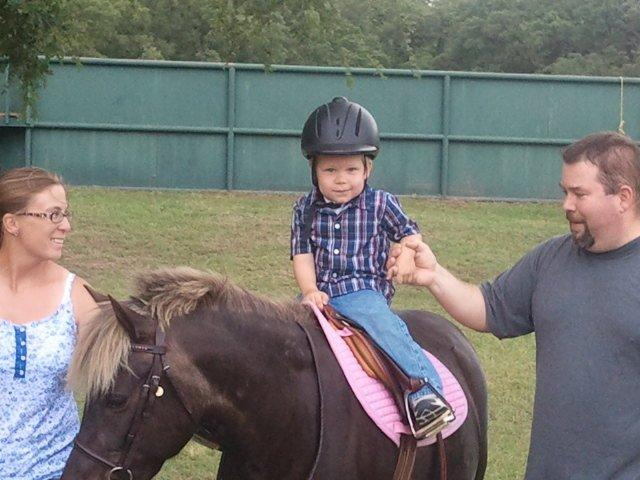 Matthew riding Abba 5